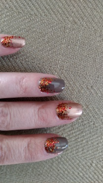 Rubble and Iced Cappuccino Piggy Polish sparkles