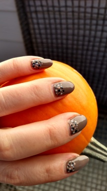 Rubble with Studio White, Midnight Swim and Iced Cappuccino dots