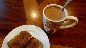 Hot chocolate and toast (sigh)